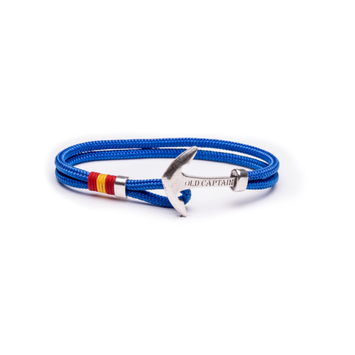 pulsera ancla Old Captain azul royal